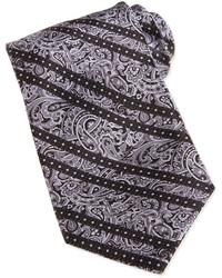 Cravate imprimée cachemire grise
