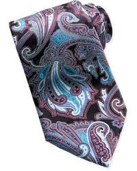 Cravate imprimée cachemire noire