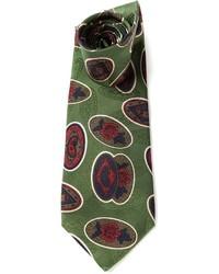 Cravate imprimée cachemire olive Valentino