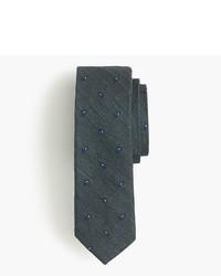 Cravate imprimée cachemire vert foncé