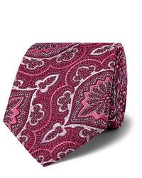 Cravate imprimée fuchsia Kingsman