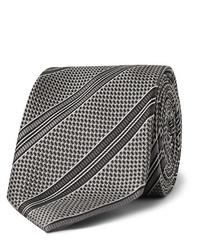 Cravate imprimée gris foncé Tom Ford