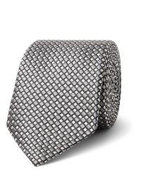 Cravate imprimée grise Giorgio Armani
