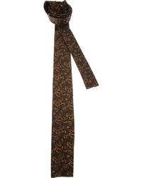 Cravate imprimée marron foncé Emilio Pucci
