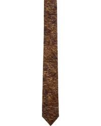 Cravate imprimée marron foncé Neil Barrett