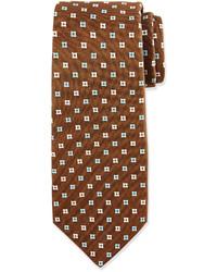 Cravate imprimée marron