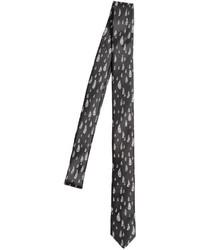 Cravate imprimée noire et blanche