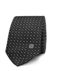 Cravate imprimée noire et blanche Givenchy