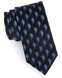 Cravate imprimée noire