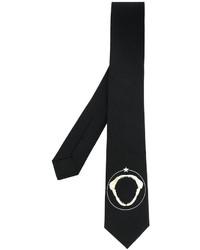 Cravate imprimée noire Givenchy