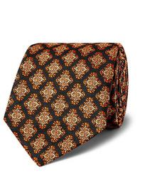 Cravate imprimée noire Kingsman