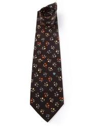 Cravate imprimée noire Ungaro