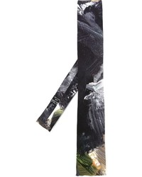 Cravate imprimée noire Yohji Yamamoto