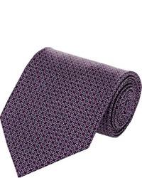 Cravate imprimée pourpre foncé