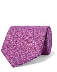 Cravate imprimée pourpre Charvet