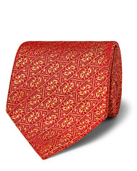 Cravate imprimée rouge Charvet