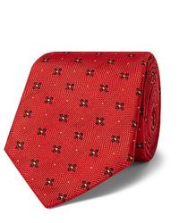 Cravate imprimée rouge Kingsman