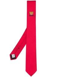 Cravate imprimée rouge Moschino