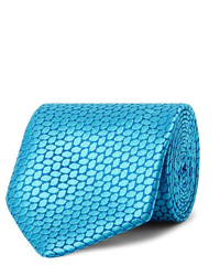 Cravate imprimée turquoise Charvet