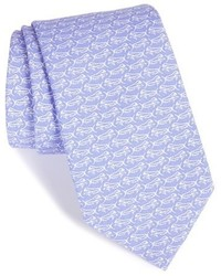Cravate imprimée violet clair
