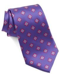Cravate imprimée violette