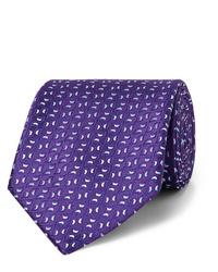 Cravate imprimée violette Charvet