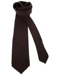 Cravate marron foncé