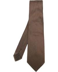 Cravate marron Armani Collezioni