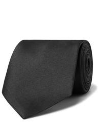 Cravate noire Alexander McQueen