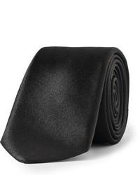 Cravate noire Burberry