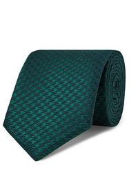 Cravate vert foncé Charvet