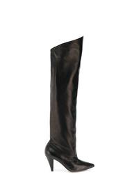 Cuissardes en cuir noires Givenchy