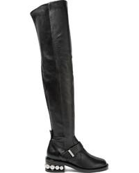 Cuissardes en cuir noires Nicholas Kirkwood