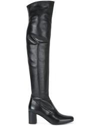 Cuissardes en cuir noires Saint Laurent