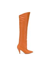 Cuissardes en cuir orange Givenchy