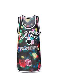 Débardeur à fleurs multicolore Love Moschino