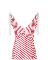 Débardeur à rayures horizontales blanc et rouge Maggie Marilyn