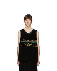 Débardeur brodé noir Gucci