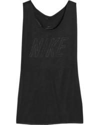 Débardeur découpé noir Nike