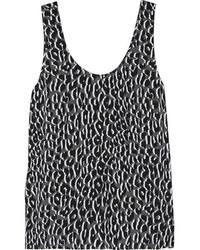 Débardeur en soie imprimé léopard noir Equipment