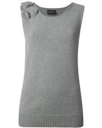 Débardeur en tricot gris Lanvin