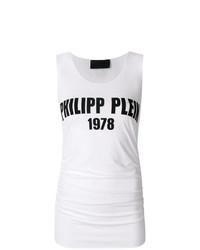 Débardeur imprimé blanc et noir Philipp Plein