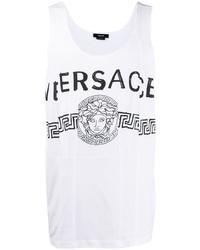 Débardeur imprimé blanc et noir Versace