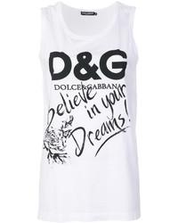 Débardeur imprimé blanc Dolce & Gabbana