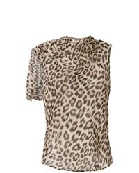 Débardeur imprimé léopard marron clair Twin-Set