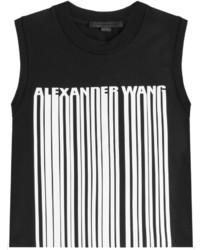 Débardeur imprimé noir et blanc Alexander Wang