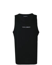 Débardeur imprimé noir et blanc Dolce & Gabbana