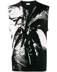 Débardeur imprimé noir et blanc Saint Laurent