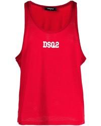 Débardeur imprimé rouge DSQUARED2