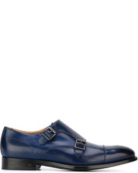 Double monks en cuir bleus Paul Smith